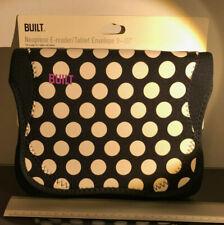 """BUILT NY Envelope 9-10""""  Tablet Polka Dot Black and White Neoprene iPad Sleeve"""