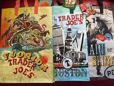 Boston Florida Pdx Trader Joe's Bags reusable Shopping grocery Eco bags Nwt