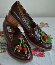 b42b1283d3d05 New Miss L Fire Marguerite Cherry Burgundy Loafers UK 39 US 8.5-9