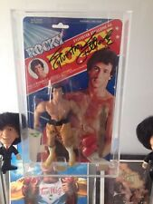ROCKY CARDED FIGURE BY REMCO CASES THIS SALE IS FOR ACRYLIC CASES ONLY NO TOYS