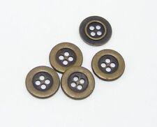 10 Metallknöpfe Knöpfe  15mm altmessing   02.28#215