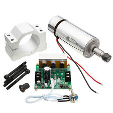 ER11 Chuck CNC 500W Spindle Motor With 52mm Clamps and Power Supply Speed Govern