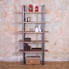 Beetham Industrial Style Wooden Metal Shelving Unit Shelf Rack Storage