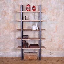 Beetham Industrial Style Reclaimed Wooden Metal Shelving Unit Shelf Rack Storage