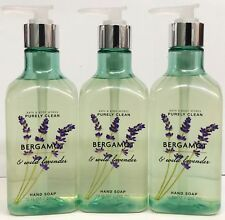 3 Bath & Body Works BERGAMOT WILD LAVENDER Purely Clean Luxe Hand Soap 10 oz