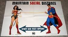 """Superman """"mantener distancia social"""" DC Comics Promo Poster (2020) 24"""" X 36"""""""