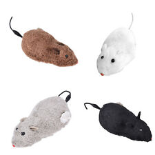 Wind Up Funny Running Mouse Rat Move Tail Cat Kitten Prank Toy Joking Gag Yjf0