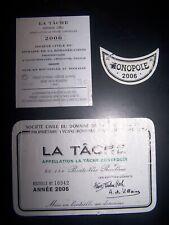 etiquette vin La Tache 2006 Romanée Conti wine label wein etikett DRC burgundy