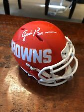 Jim Brown Signed Cleveland Browns Amp Mini Helmet Psa/dna Coa Autographed