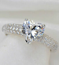Cubic Zirconia Solitaire with Accents Simulated Fine Rings