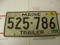 1982 82 1985 85 Maine ME License Plate Trailer 525786