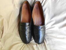 Men's Magnanni Loafers Size 11 (D,M) Dress Solid Black Leather