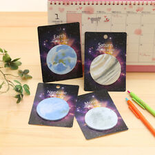 3pcs Kawaii Space Planet Note Pad Creativ Office Kids Gift Sticky Note