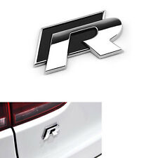 Sports R Black Metal Sticker 3D Chrome Badge Logo Sticker for All Car & Bike