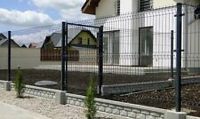 Zaun Gartenzaun 3D 153 cm  30 Lfm  Einstabmattenzaun inkl Pfosten Anthrazit