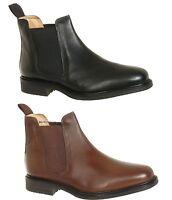 Roamers Jim Flexible Leather Fuller Wide Fit Twin Gusset Chelsea Ankle Shoe Boot