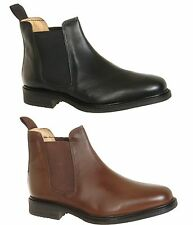 Roamers M278 Twin Gusset Leather Chelsea BOOTS Black Uk8