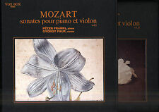 György PAUK, Peter FRANKL, MOZART French 2 box 6 LPs w/booklets VOX 41020/41024