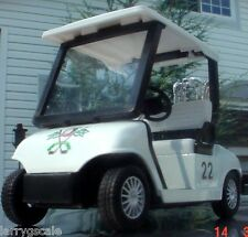 Golf Cart Miniature w Golf Bags 1/24 Scale G Scale Diorama Accessory Item