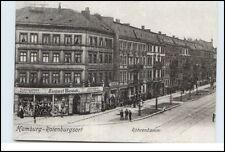 HAMBURG  Rothenburgsort Röhrendamm mit Wäsche Geschäft August Beuck Reprintdruck