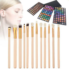 180 Color Eye Shadow Makeup Cosmetic Shimmer Matte Eyeshadow Palette 12Pcs Brush