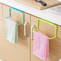 Over Door Towel Rack Holder Rail Bathroom Kitchen Shelf Organizer Cabinet Hanger
