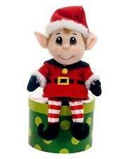 Fiesta Toys 11'' Christmas Holiday Plush SANTA'S SECRET ELF BOY ~NEW~
