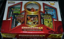 Charizard EX Box Red & Blue Collection Pokemon Trading Cards 4 Booster Packs NEW