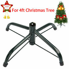 4FT Christmas Tree Stand Green Metal Holder Base Cast Iron Stand 4 Feet Decor