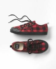 GAP Kids / Toddler Boys Size 11 US 28 EU Red Black Buffalo Plaid Sneakers Shoes