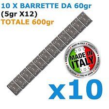 Pesi adesivi per equilibratura cerchi IN LEGA 10X 60gr Contrappesi NON CINESI