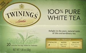 "Twinings of London ""Fujian Chinese Pure White Tea"" : Box of 20 Tea Bags"