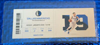 LUKA DONCIC Triple Double Ticket Stub 1/6/20 Dallas Mavericks MAVS vs Bulls