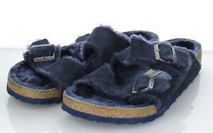 97-73 $150 Men's Sz 46 M Birkenstock Arizona Shearling Hard Footbed Sandal