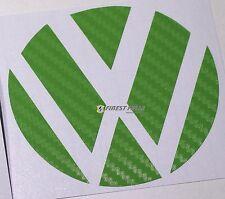 Emblem esquinas carbon verde atrás VW Golf 6 VI GTI GTD Turbo R lámina logotipo sticker