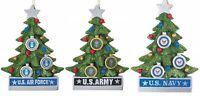 Kurt Adler Patriotic Christmas Tree Ornament, Navy / Air Force / Army