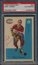 1959 Parkhurst #43 Bob Turner Autographed PSA/DNA Authentic Auto 41065