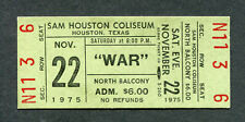 1975 War unused full concert ticket Houston Why Can't We Be Freinds Low Rider