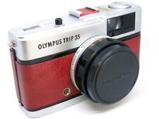 Olympus Trip 35 (1982) REFURB/SERVICED Antique Red Leather - GREAT COND