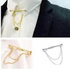 Hommes Cravate Chemise Pince à 5.5 cm Barre Argent or Agrafe de Col Fermoire