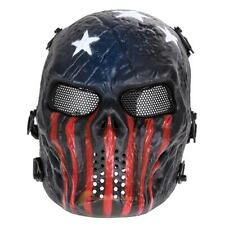 Airsoft Paintball Tactical Full Face Protection Skull Mask Army(Captain) R1BO