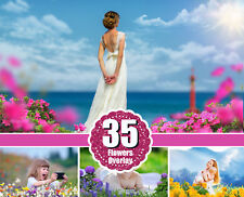 35 Flower rose Photo Overlays, Photoshop Overlays, Photo Textures, png file