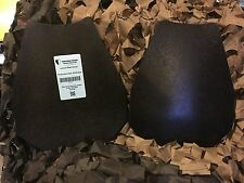 """Swat Level III Armor Multi Hit 10x13"""" Steel AR500 Tactical Cut Double Curved"""
