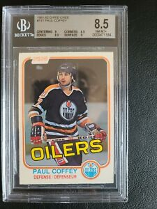 1981-82 OPC #111 PAUL COFFEY ROOKIE BGS 8.5 WITH TWO 9 SUB