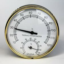 Stainless Steel Thermometer Hygrometer for Sauna Room Temperature Humidity KEO