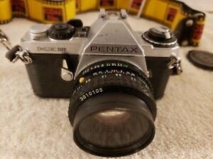 Vintage PENTAX ME Super 35mm Film Camera with SMC Pentax-A 1:2 50mm Lense