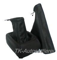 Schaltsack Handbremssack passt für OPEL ASTRA F ECHT LEDER - Naht Schwarz