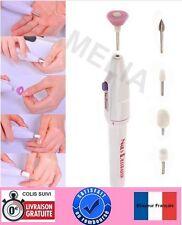 Kit Ponceuse électrique Manucure/Pédicure  - Soins des ongles + 5 embouts -