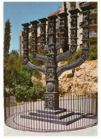 Jerusalem: The Great Menorah of The Knesseth Israel, Palestine Rare Postcard