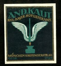 Germany Poster Stamp Ink Pen Fuller Bavaria Kaut Munich